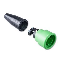 Volrubber koppelcontactstop 522 gekleurde kop groen