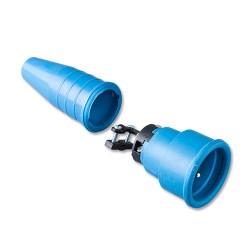 Volrubber koppelcontactstop 552 geheel blauw