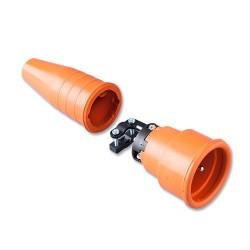 Volrubber koppelcontactstop 552 geheel oranje